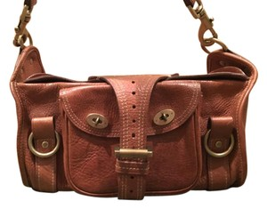 Mulberry Brass Alana Unique Satchel in Oak Brown Leather
