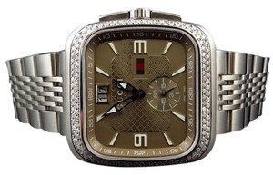 Gucci Gucci Coupe 40 MM Square Stainless Steel Diamond Watch YA131301 2.0 Ct