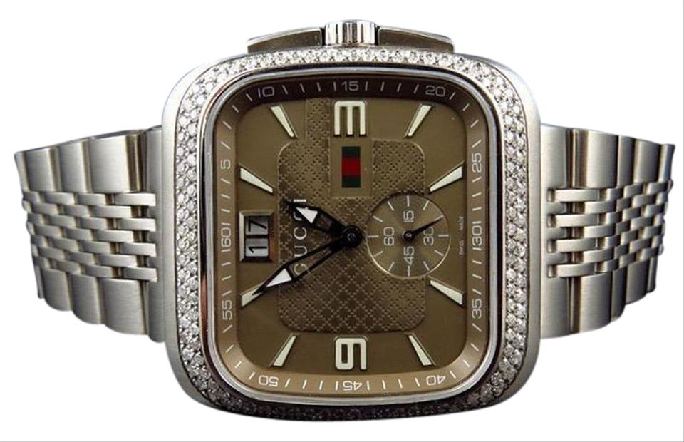 c7e3d56a7cb Gucci Gucci Coupe 40 MM Square Stainless Steel Diamond Watch YA131301 2.0 Ct  Image 0 ...