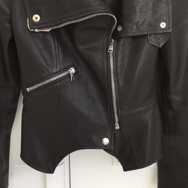 Alexander McQueen black Leather Jacket Image 1