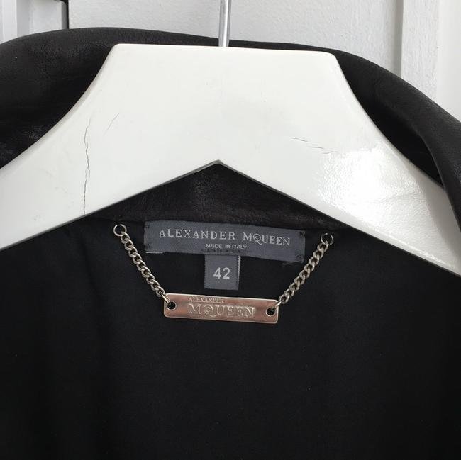 Alexander McQueen black Leather Jacket Image 2