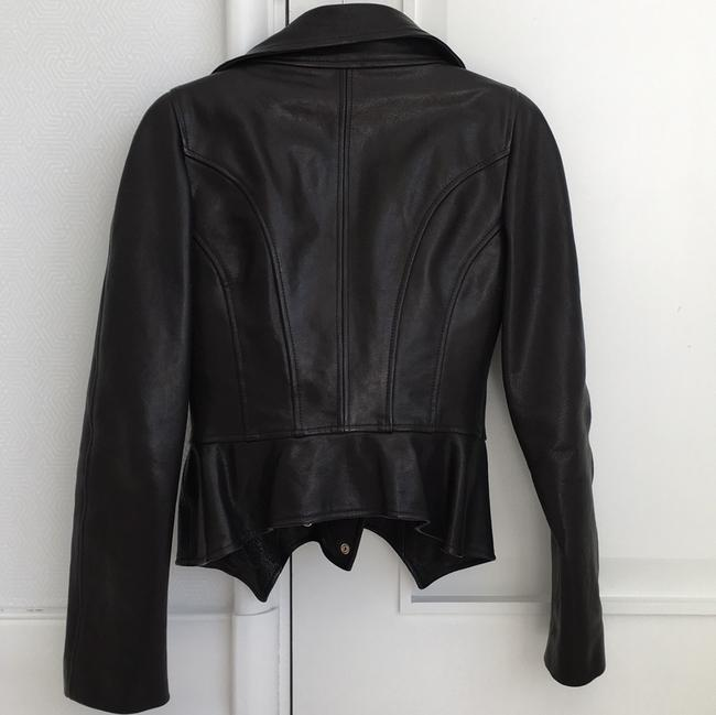 Alexander McQueen black Leather Jacket Image 3