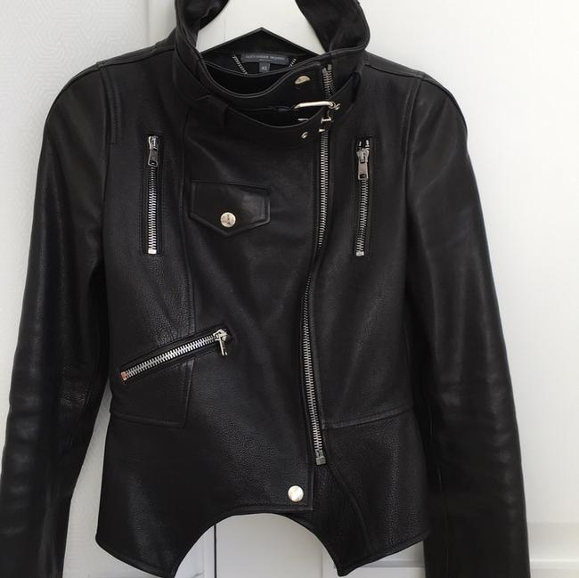 Alexander McQueen black Leather Jacket Image 4