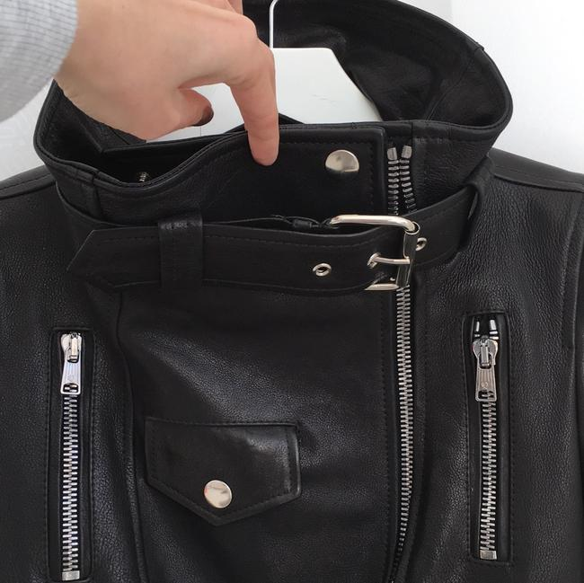 Alexander McQueen black Leather Jacket Image 5