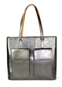 Louis Vuitton Vernis Monogram Willwood Leather Canvas Tote in Gray Tan