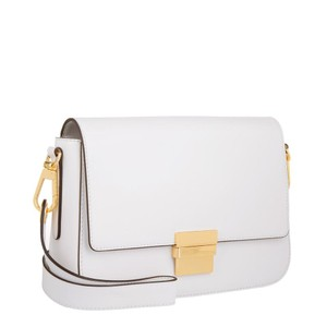 Michael Kors Smooth Leather Madelyn OPTIC WHITE Clutch