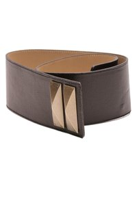 St. John St. John Black Leather Wide Waist Belt