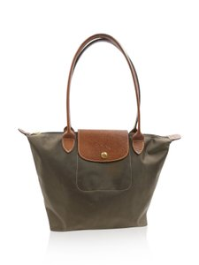 Longchamp Tote in olive brown