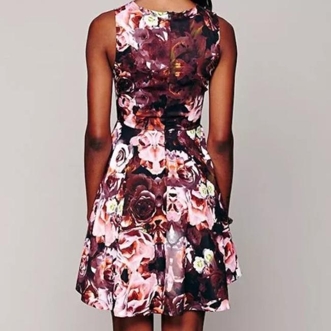 Free People short dress Pink Fit And Flare Shakuhachi For Fp Floral Printed Swing Flower Bomb Flip on Tradesy Image 1