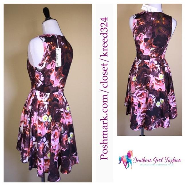 Free People short dress Pink Fit And Flare Shakuhachi For Fp Floral Printed Swing Flower Bomb Flip on Tradesy Image 4