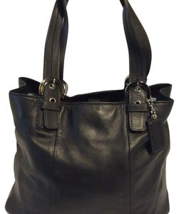 Coach Leather Leather Satchel in black