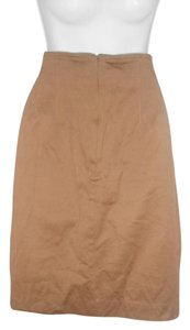Emanuel Ungaro Wool Mustard Career/work Skirt Brown