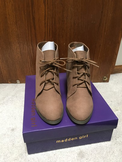 Madden Girl Taupe Boots Image 1