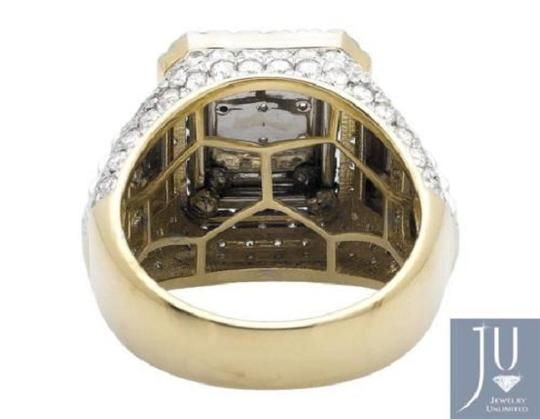 Other Men's 10K Two Tone Gold Step Wide Diamond Pinky Ring 4.0ct. Image 2