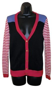 Tommy Hilfiger Buttons Stretchy Cotton Multi Color Cardigan