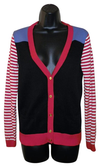 Item - Red White Blue & Black And Sweater Cardigan Size 6 (S)