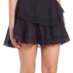 LoveShackFancy Mini Skirt Black