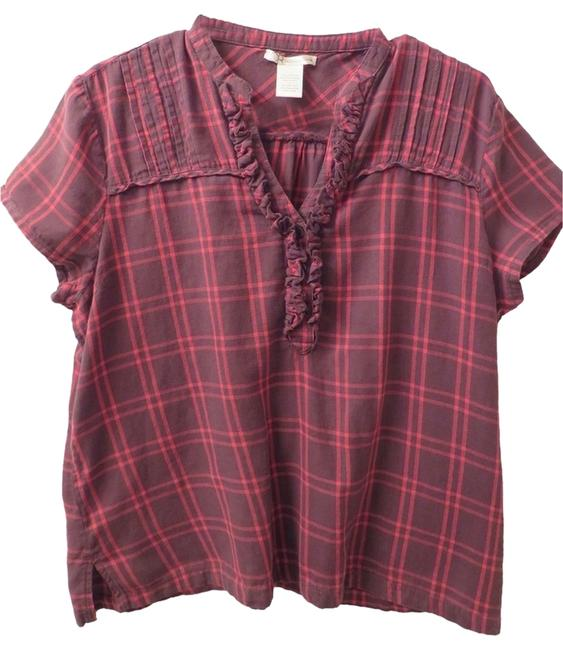 Charlotte Russe Top Red & Brown