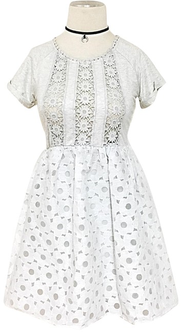 Preload https://img-static.tradesy.com/item/21005845/crochet-lace-gauze-flared-short-casual-dress-size-2-xs-0-1-650-650.jpg