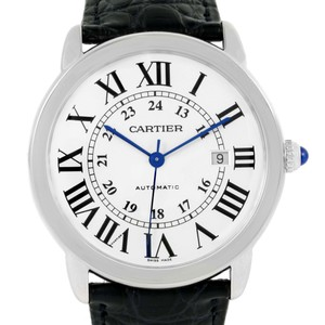 Cartier Cartier Ronde Solo XL Silver Dial Steel Watch W6701010 Box Papers