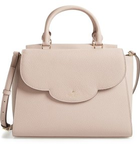 Kate Spade Leather Makayla Satchel in SOFT PORCIN