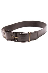 Saint Laurent Yves Saint Laurent Black Patent Leather Double Buckle Belt