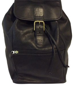 Coach Leather String Closure Buckle Closure Backpack
