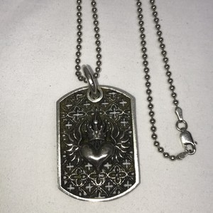 King Baby large relic dog tag with crowned heart