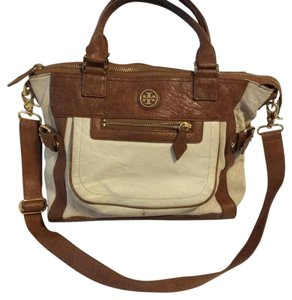 Tory Burch Leather Goldtone Hardware Satchel in brown