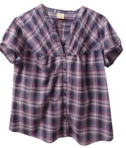 Sonoma Button Down Shirt Purple & Navy