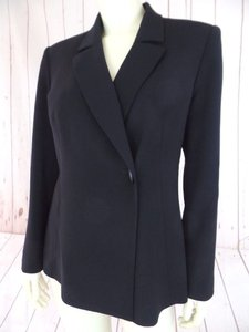 Le Suit Petite Toggle Fitted Sleek Lined Black Blazer