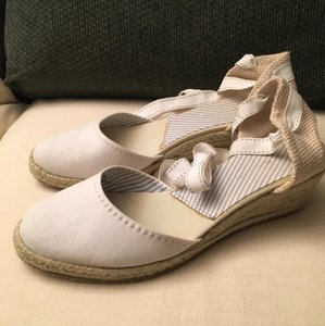 Tommy Hilfiger White Wedges