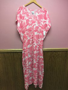 Pink/White Maxi Dress by Old Navy Sheer Maxi Summer