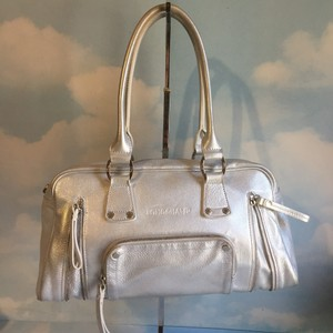 Longchamp Satchel in silver
