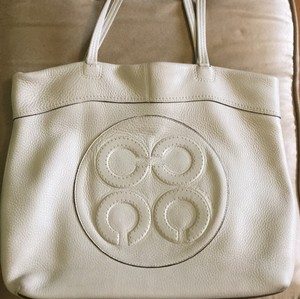 Coach Tote in Cream/off white