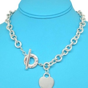 Tiffany & Co. RARE SIZE!!! Tiffany & Co. Heart and Toggle Necklace