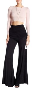Young Fabulous & Broke Palazzo Relaxed Resort Wide Leg Pants Black