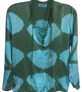 Letarte Swimwear Top Blue / Green