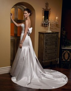 Casablanca Couture Casablanca Timeless Moments 1910 Mermaid Satin Dress With Bow Detail Wedding Dress