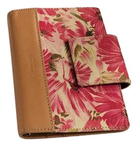 Kate Spade pink linen and leather agenda
