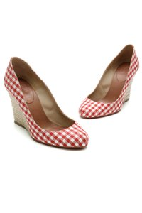 Christian Louboutin Red, white, beige Wedges