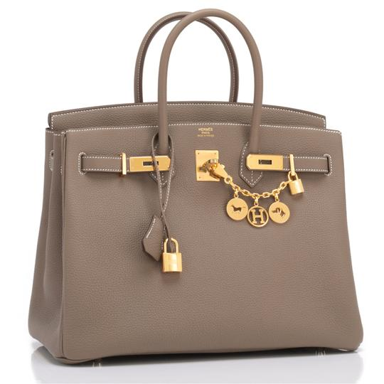 Hermès Birkin 35 Etoupe Birkin Etoupe Birkin 35 Etoupe 35 Taupe Birkin Tote in Trench Image 1