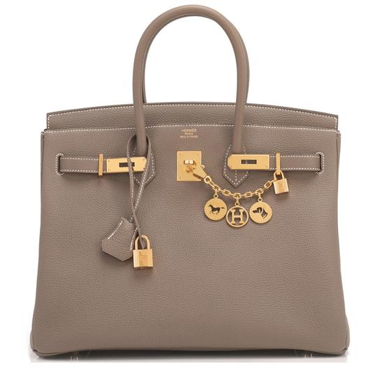Hermès Birkin 35 Etoupe Birkin Etoupe Birkin 35 Etoupe 35 Taupe Birkin Tote in Trench Image 10