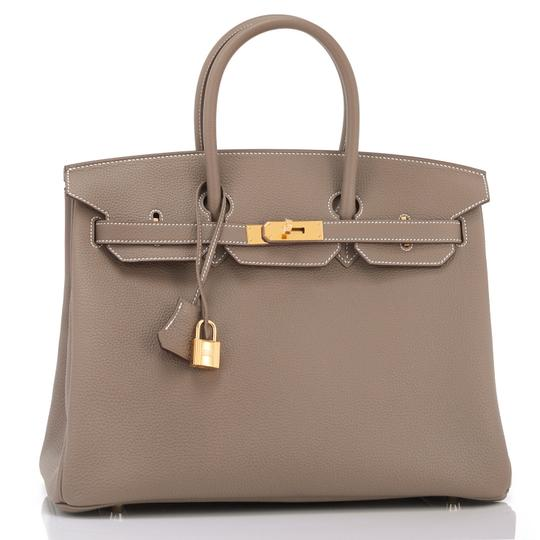 Hermès Birkin 35 Etoupe Birkin Etoupe Birkin 35 Etoupe 35 Taupe Birkin Tote in Trench Image 5