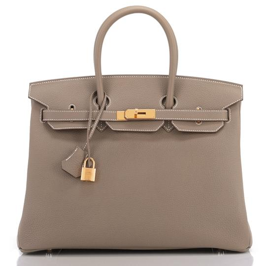 Hermès Birkin 35 Etoupe Birkin Etoupe Birkin 35 Etoupe 35 Taupe Birkin Tote in Trench Image 8