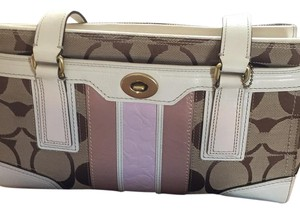 Coach Tote in beige, white, like pink