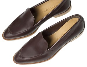 Everlane Leather Loafer Burgundy Flats