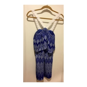 T-Bags Los Angeles short dress Cobalt Blue and White on Tradesy