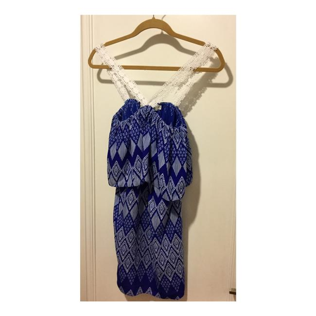 T-Bags Los Angeles short dress Cobalt Blue and White on Tradesy Image 1
