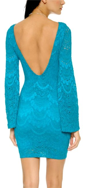 Preload https://img-static.tradesy.com/item/21006524/nightcap-blue-bodycon-open-back-long-bell-sleeve-mini-new-short-casual-dress-size-2-xs-0-3-650-650.jpg